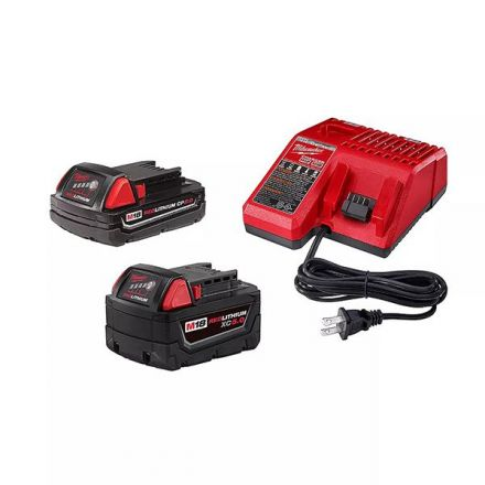 M18 Starter Kit with 2 Batteries, one 5.0Ah and one 2.0 Ah and Charger
