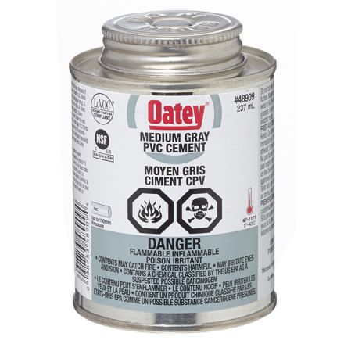 Ciment pour CPV, adhérence moyenne, gris, 237 ml