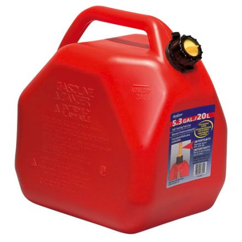 Bidon d'essence 20 litres rouge