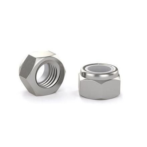Hex lock nut - Stainless steel - 10-24 (5)