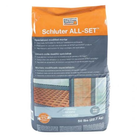 "Ciment-colle ""ALL-SET"" gris 50lb modifié"