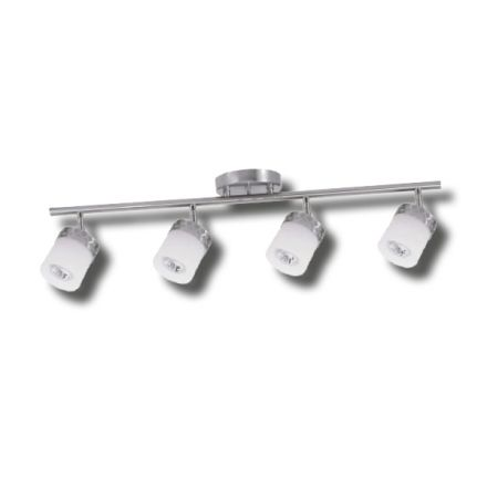 Hanrahan 4-Light Brushed Steel Track Lighting Kit