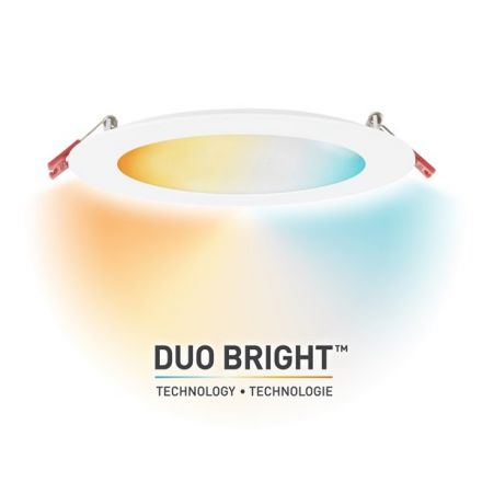 DuoBright Integrated LED Recessed Lighting Kit with Adjustable CCT 6-in