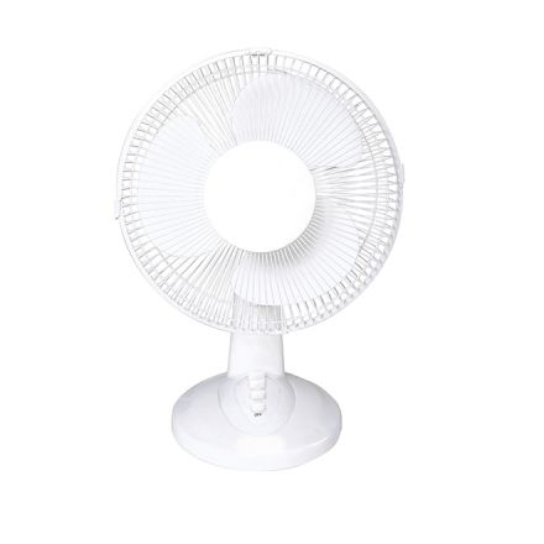 "Ventilateur de bureau Facto, 12"", blanc"