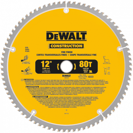 "Thin Kerf 12"" Circular Saw Blade 80 Teeth"