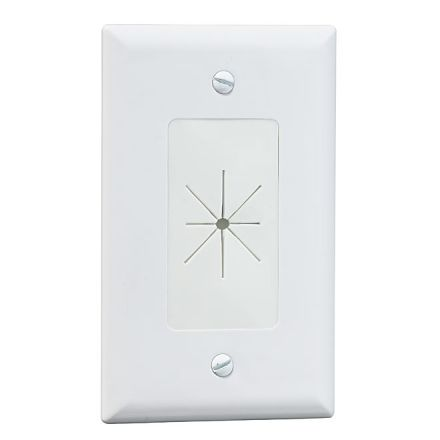 Cable Access Wall Plate - White