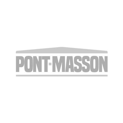 """Cuvette de toilette ronde en porcelaine, 48"""", blanc"""