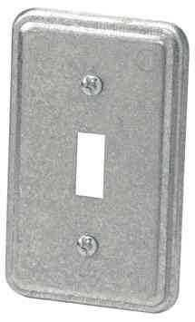 "Toggle Switch Steel Cover 4"" x 2-3/8"""