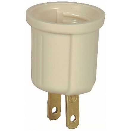 White Plug-In Light Socket 660W x 250V