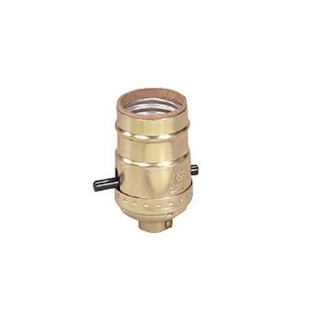 Brass Push Through Light Socket 660W  x 250V