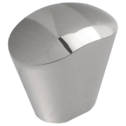 Metal Knob Chrome and Brushed Nickel 25mm