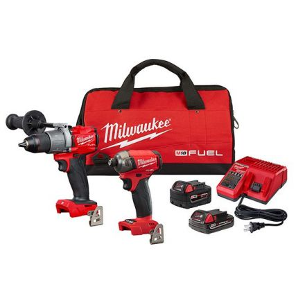 M18 Fuel Combo Kit Hammerdrill and Surge Impact with 2 batteries
