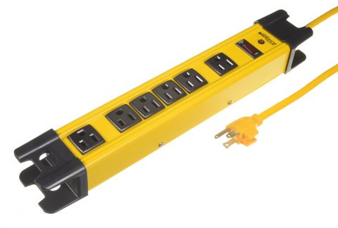 Industrial 6 Outlets  Line Surge Protection Power Bar 840j 4.5M