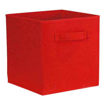 "ClosetMaid Red Cubeicals Fabric Drawers 10.5"" x 10.5""  x 11"""