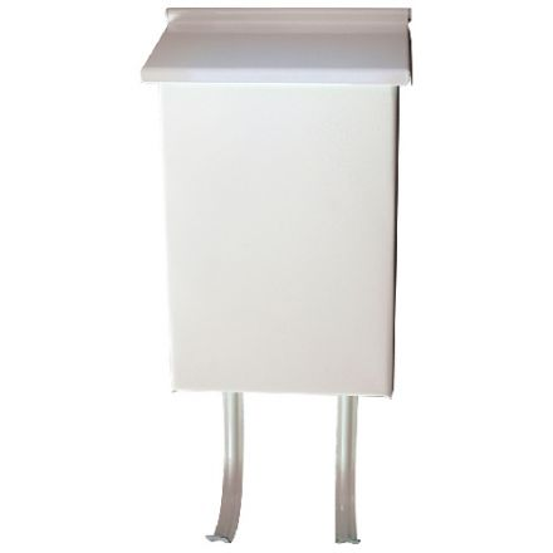 Vertical mailbox. White. 6 1/2 x 10 in.
