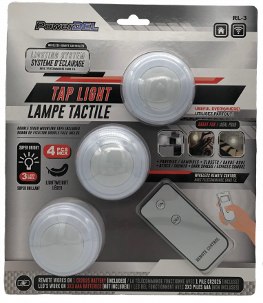 (3) LED pucklight with remote