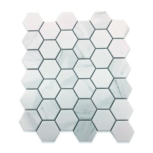 "Porcelain ""11X13"" Hexagon CARRARA (20PC)"